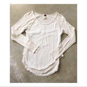 Free People • We the Free ivory layered thermal